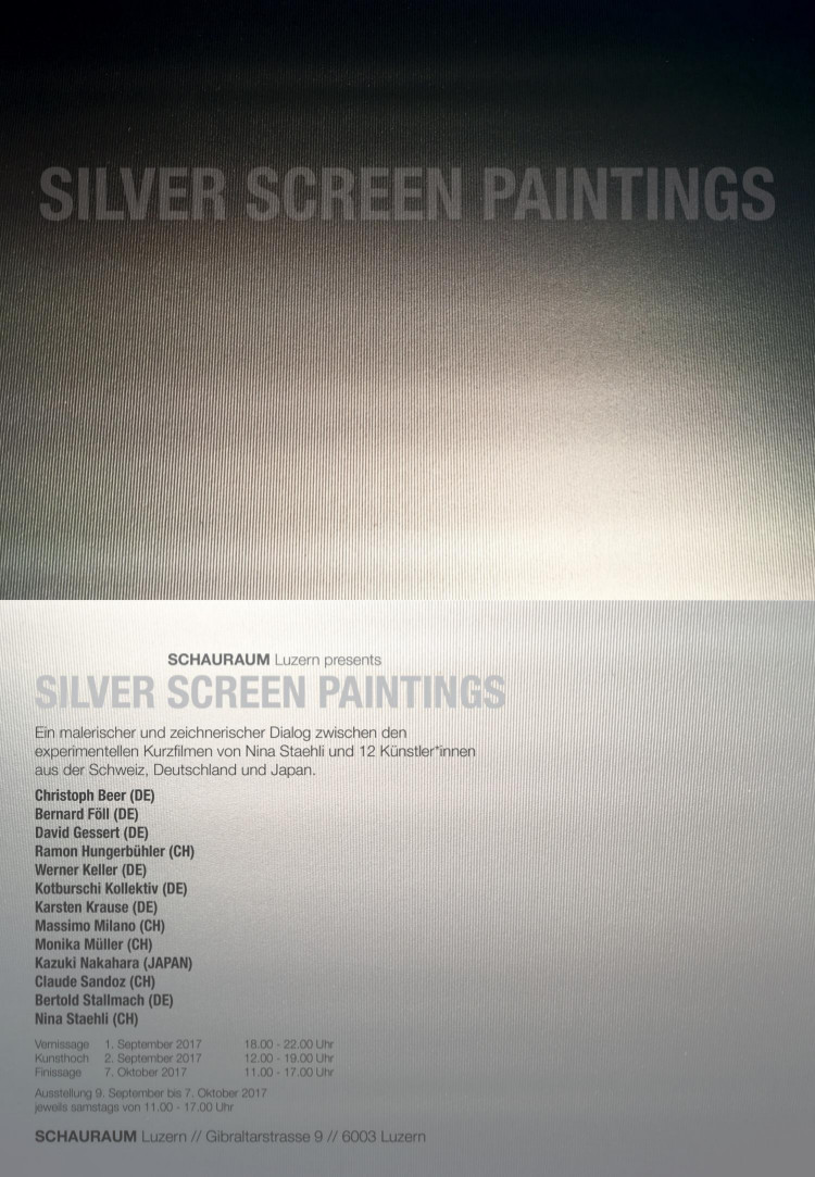 Beer Silver Screen Paintings SCHAURAUM Luzern k